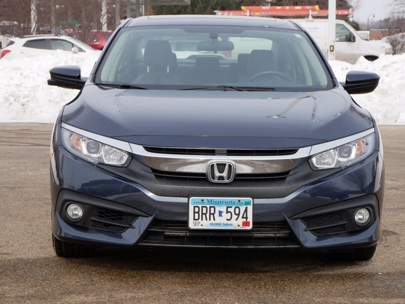 Used 2018 Honda Civic EX-T with VIN JHMFC1F37JX015174 for sale in Apple Valley, Minnesota